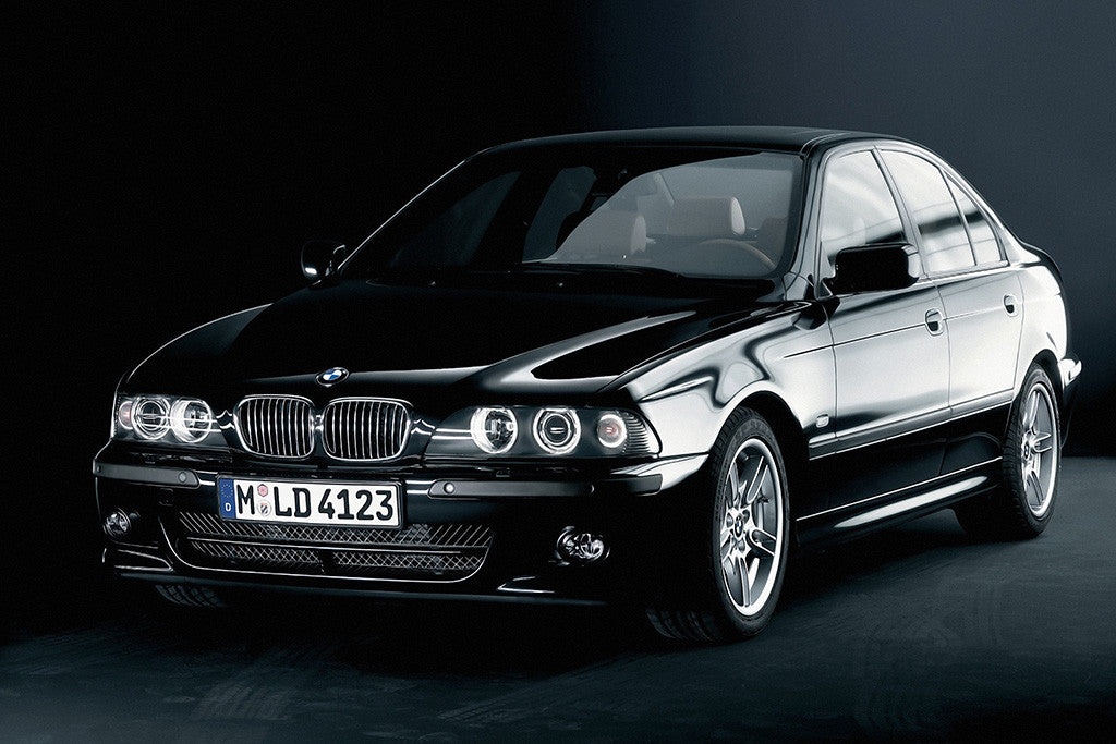 BMW 5 Series E39 Black Car Poster