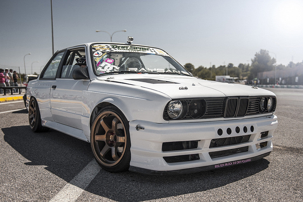 BMW 3 Series E30 Tuning White Car Poster
