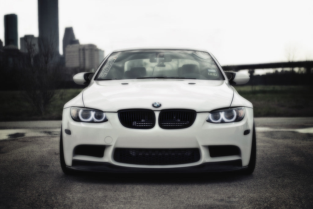BMW 3 Series M3 E92 White Car Poster