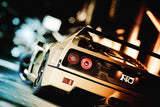 Ferrari F40 White Car Poster