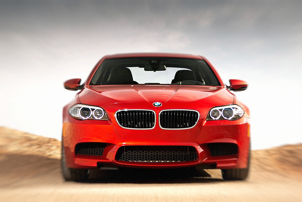BMW M5 F10 Red Car Poster