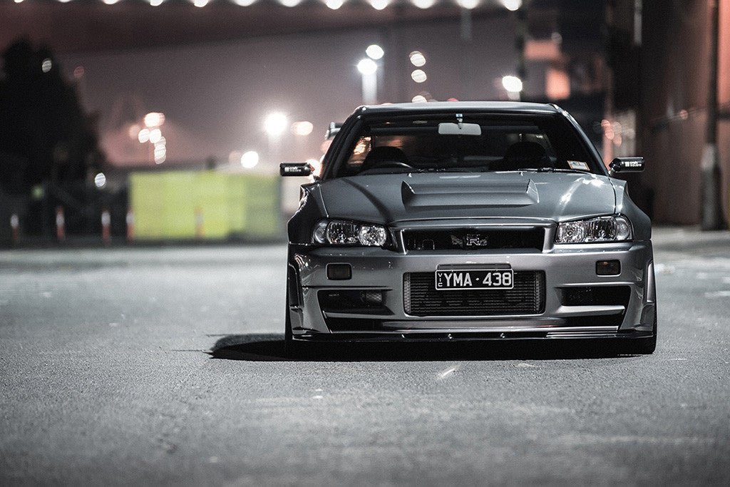 Nissan GT-R R34 Car Poster