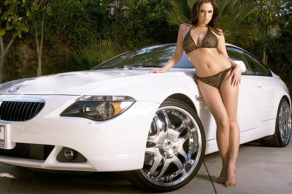 BMW 6 Series Car Hot Girl Poster