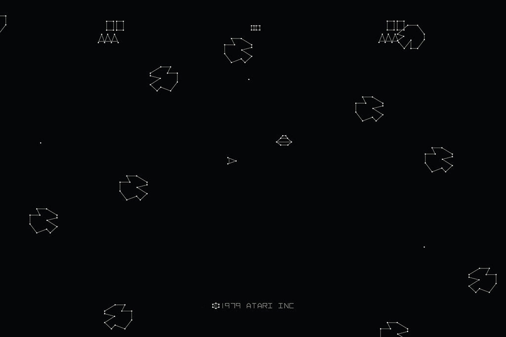 Asteroids Old Classic Retro Game Poster