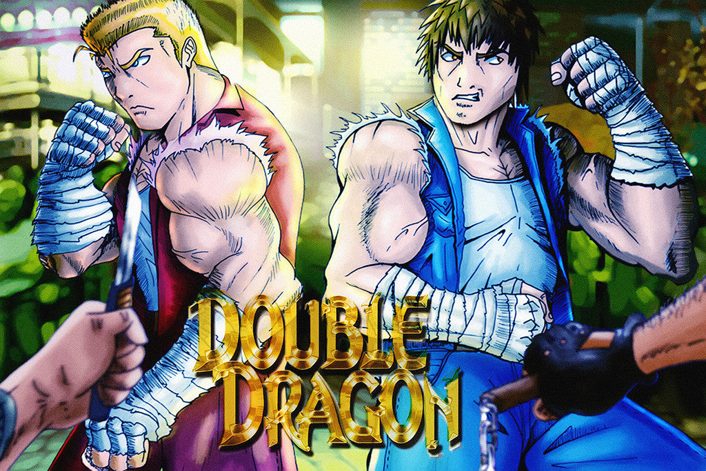 Double Dragon Old Classic Retro Game Poster