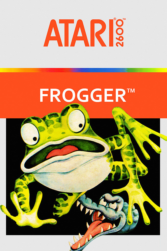 Frogger Old Classic Retro Game Poster