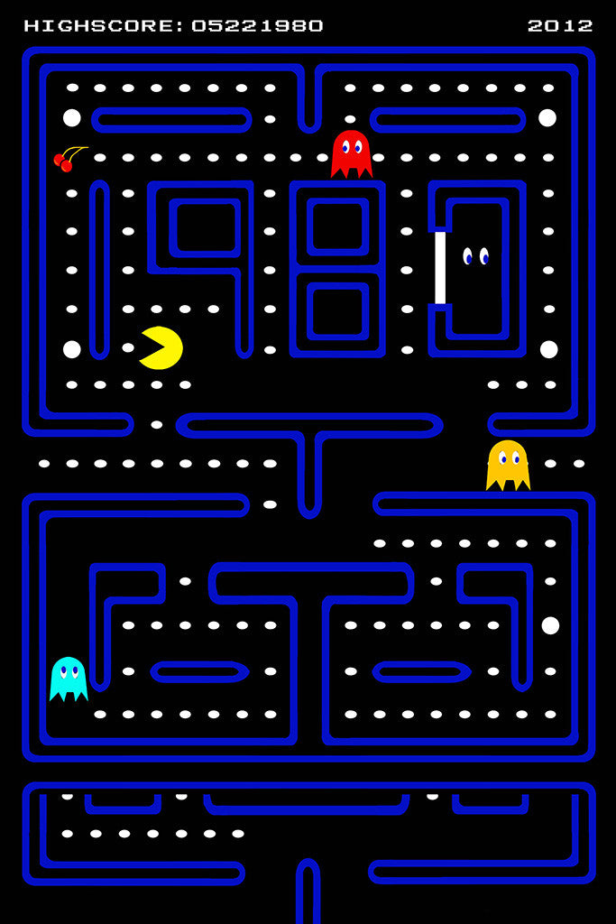 It is a graphic of Accomplished Pac Man Picture