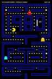 Pac Man Pacman Old Classic Retro Game Poster