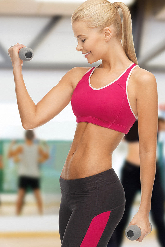 Girl Sports Fitness Weights Gym Smile Poster