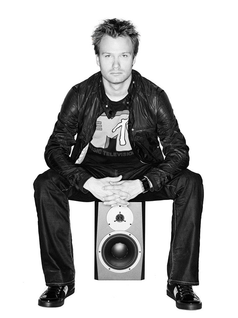 Dash Berlin Speaker Electronic Music Trance Dj Black and White Poster