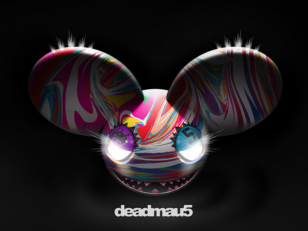 Dj Deadmau5 Colorful Evil Mouse House Music Dj Poster
