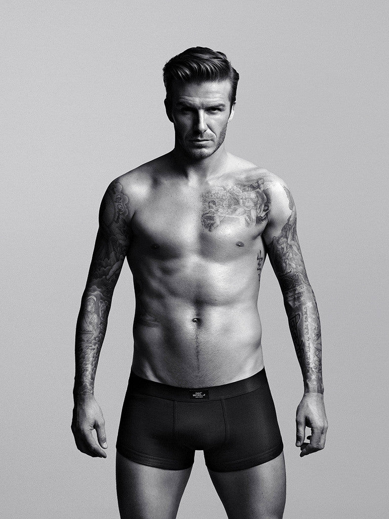 David Beckham Black and White Soccer Poster