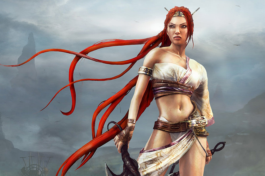 Heavenly Sword Game Ps3 Hot Sexy Girl Vivid Poster