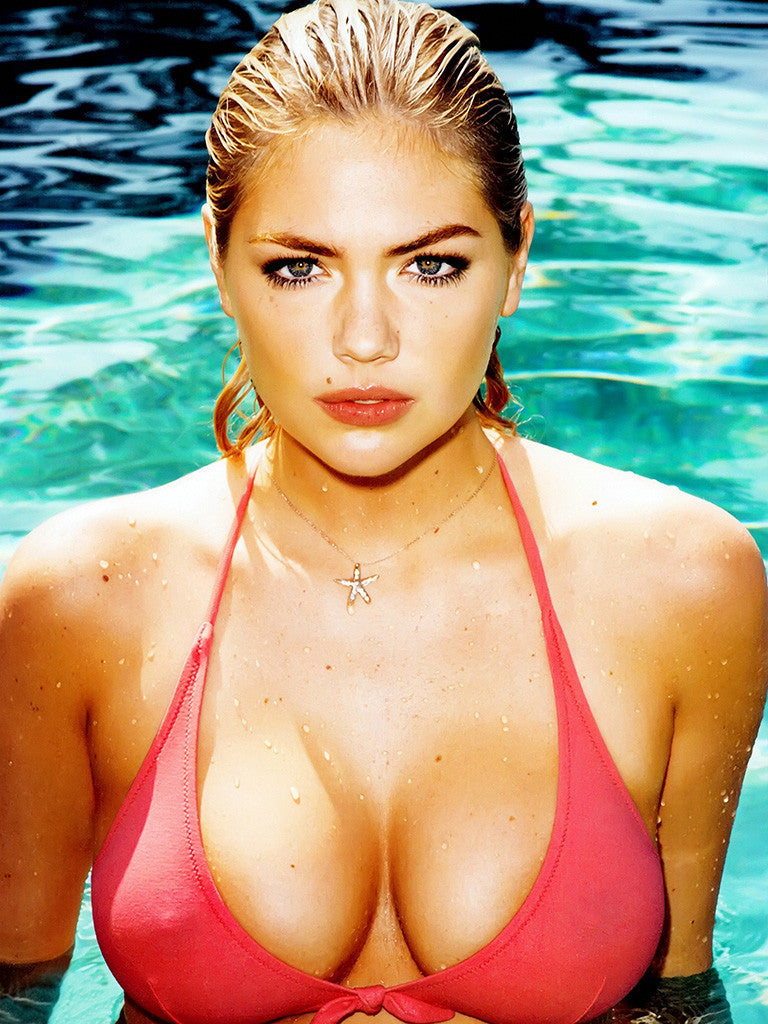 Kate Upton Sexy Girl Breast Erotic Poster