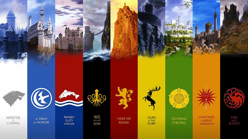 Game Of Thrones TV Series Colors Poster