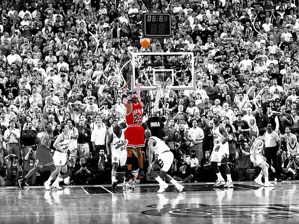 Michael Jordan MJ Last Shot Basketball Poster
