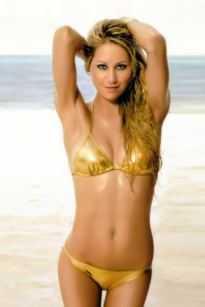 Anna Kournikova Bikini Hot Sexy Girl Tennis Player Poster