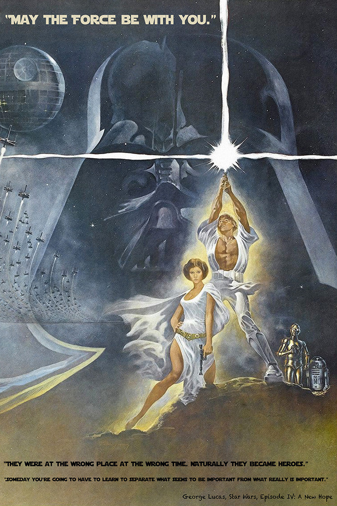 Star Wars Episode Iv 4 Quotes Classic Old Movie Film Poster My Hot Posters