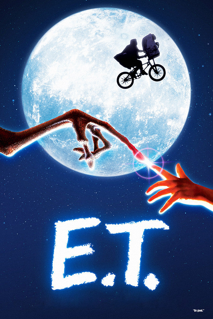E.T. the Extra - Terrestrial Quotes Old Movie Film Poster