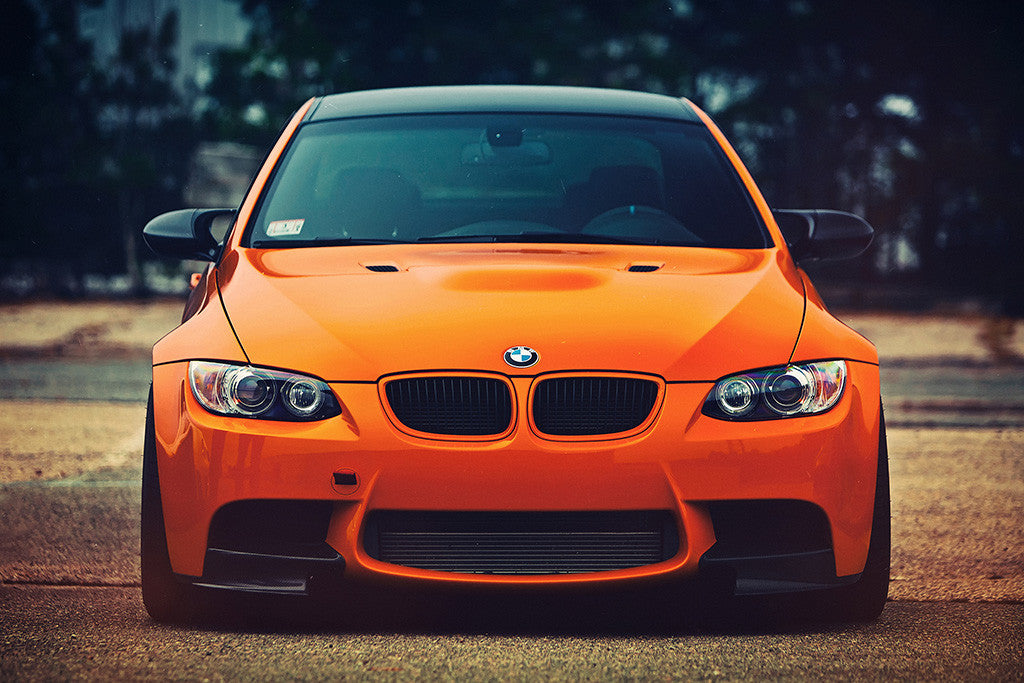 BMW M3 Orange Eyes Poster