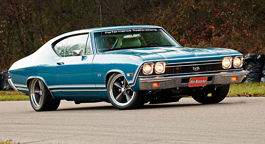 1968 Chevelle SS Muscle Car Poster