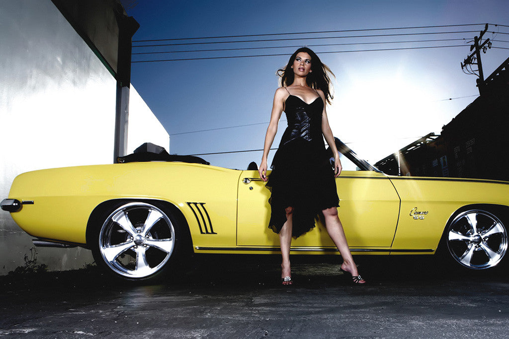 Chevrolet Camaro SS Muscle Car Hot Girl Poster