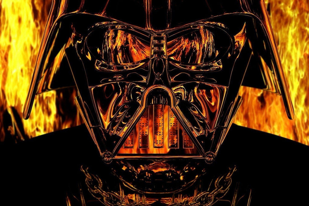Darth Vader Flame Star Wars Poster