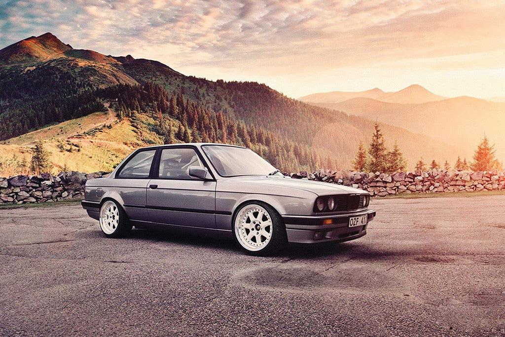 BMW E30 3 Series Car Poster