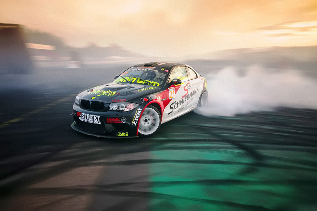 BMW 3 Series E90 Drifting Car Poster