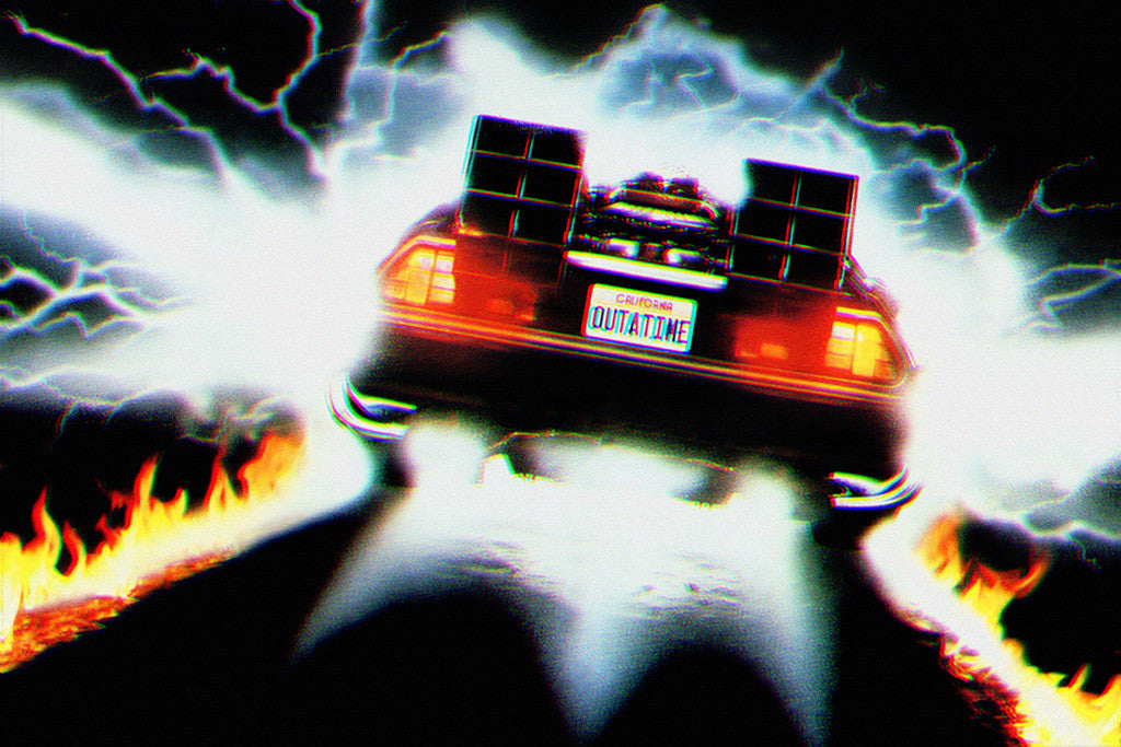 Dmc Delorean Back To The Future Acceleration Car Poster