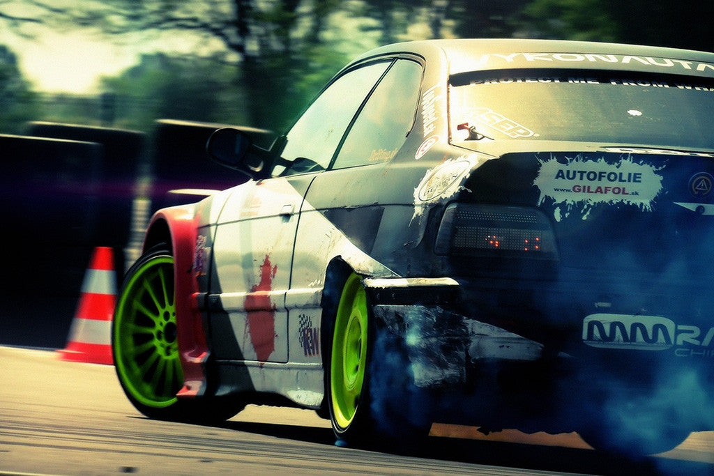 BMW M3 Drifting Car Poster