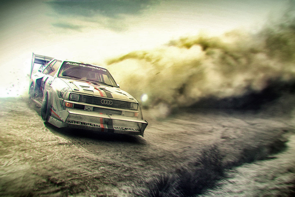 Audi Quattro Rally Car Poster