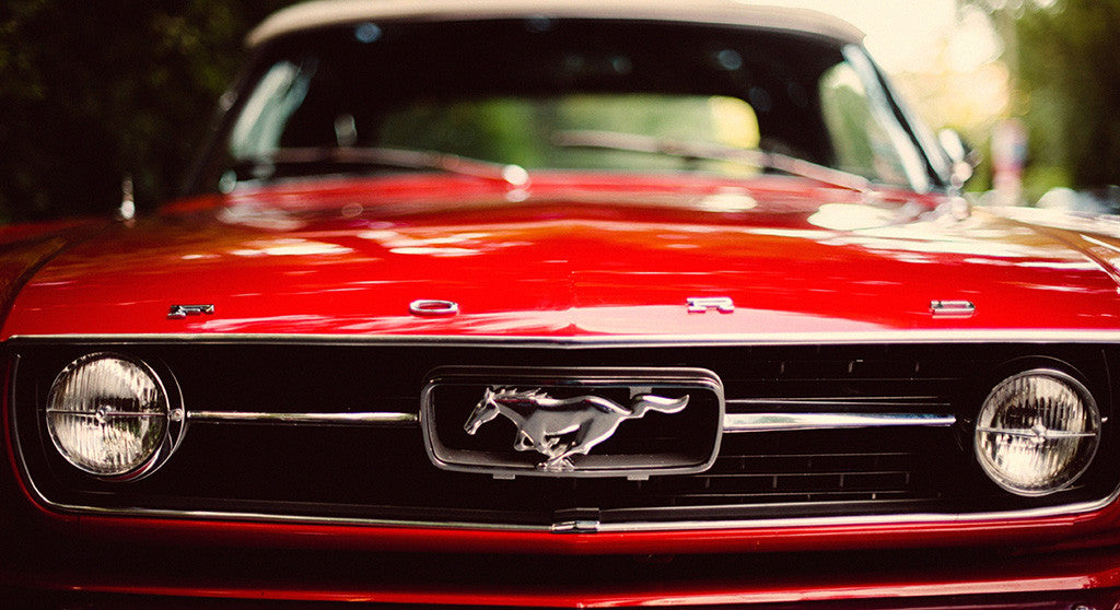 Ford Mustang Red Muscle Car Poster My Hot Posters