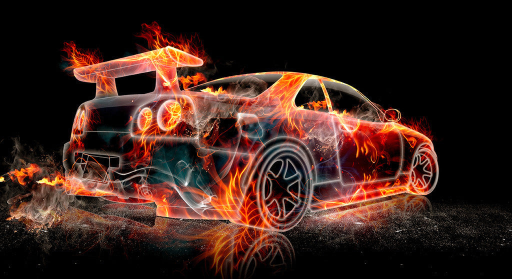 Nissan Skyline Gtr R34 Flame Car Poster My Hot Posters