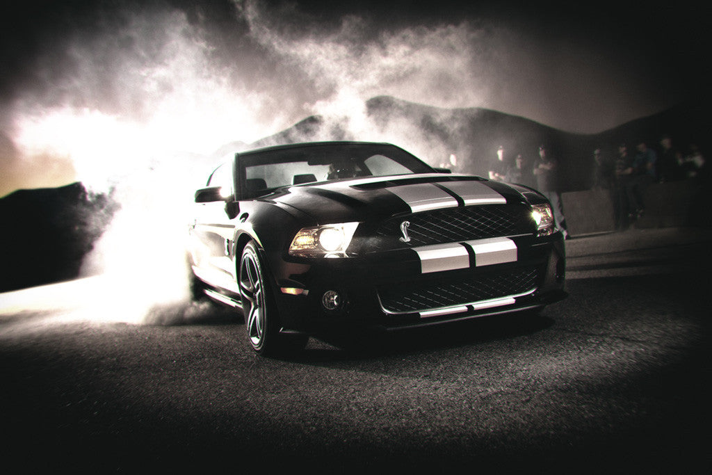 Ford Mustang Shelby Gt500 Drift Car Poster My Hot Posters