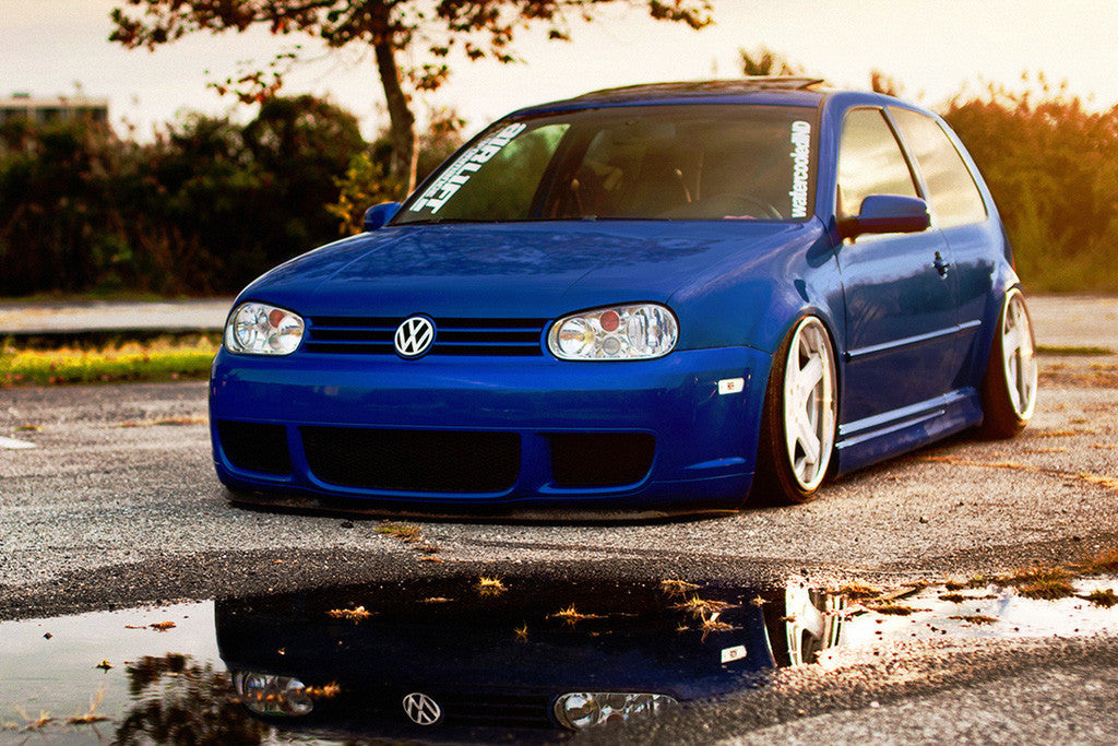volkswagen golf mk gti car poster  hot posters