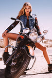 Gigi Hadid Hot Girl Model Old Retro Motorcycle Bike Motorbike Poster