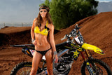 Motocross Hot Girl Bikini Motorcycle Bike Motorbike Poster