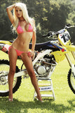 Blonde Girl Body Motocross Motorcycle Bike Motorbike Poster