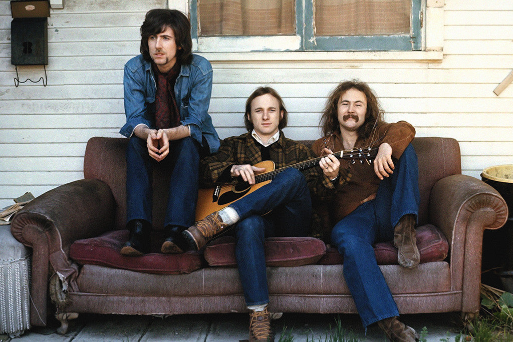 Crosby, Stills, Nash & Young Classic Rock Band Poster