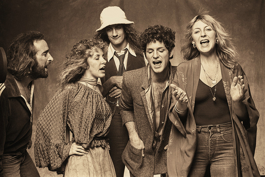 Fleetwood Mac Classic Rock Band Poster