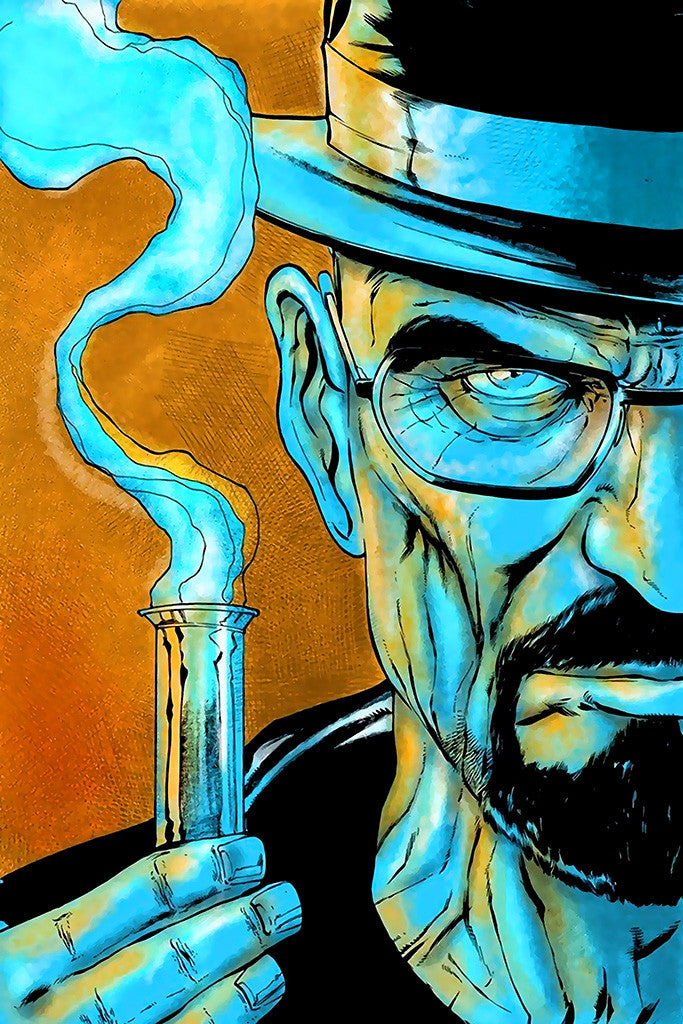 Breaking Bad Walter White Test-Tube Poster