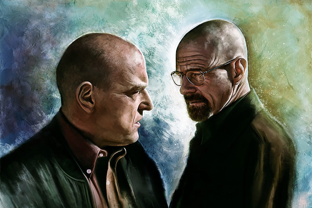 Breaking Bad Walter White Hank Schrader Poster