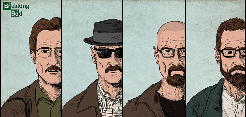 Breaking Bad Characters Poster
