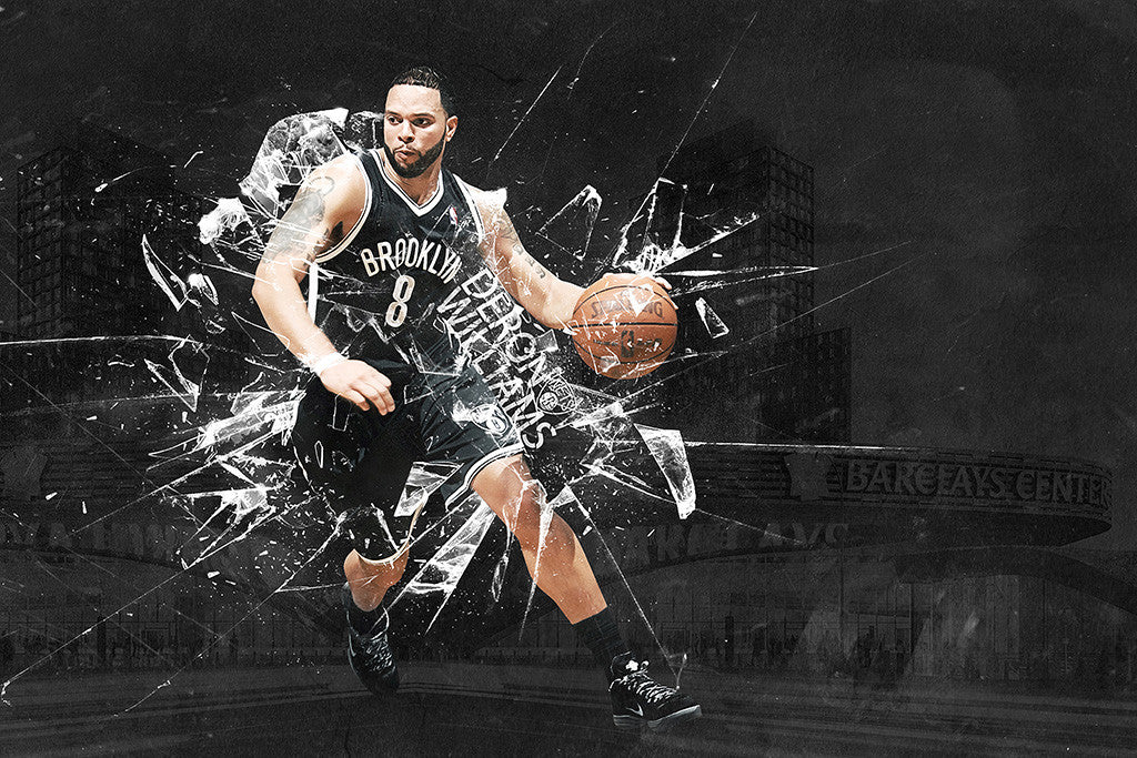 Deron Williams Brooklyn Nets Basketball NBA Poster