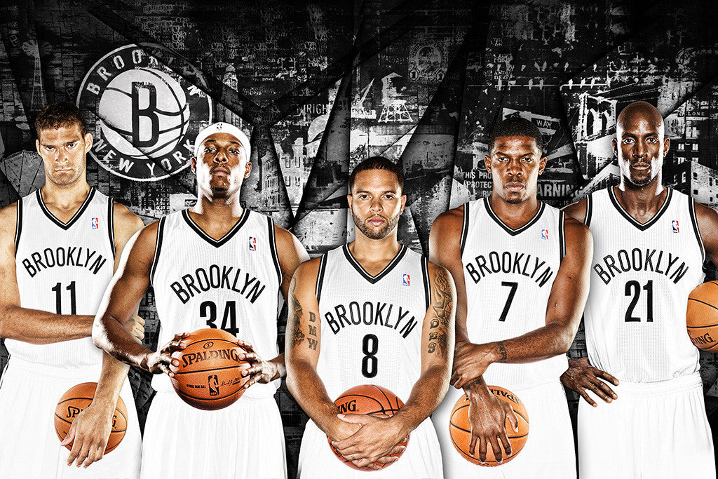 Brooklyn Players Basketball NBA Poster