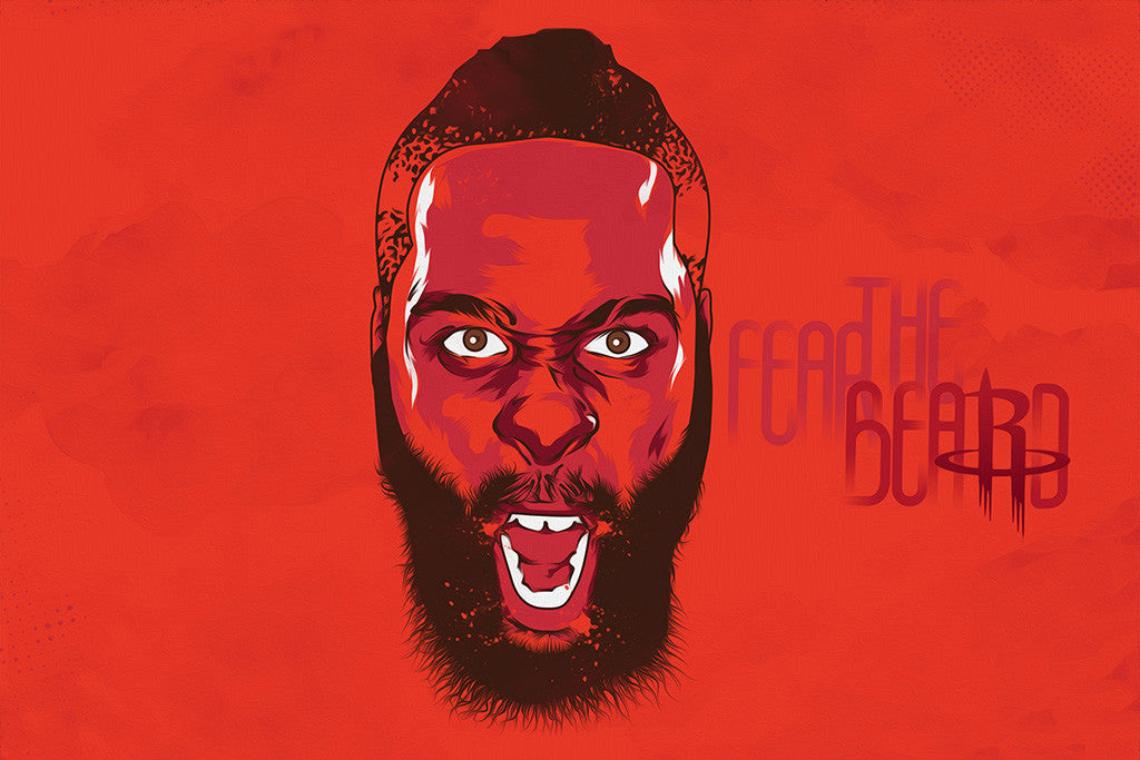 James Harden Houston Rockets Basketball NBA Poster
