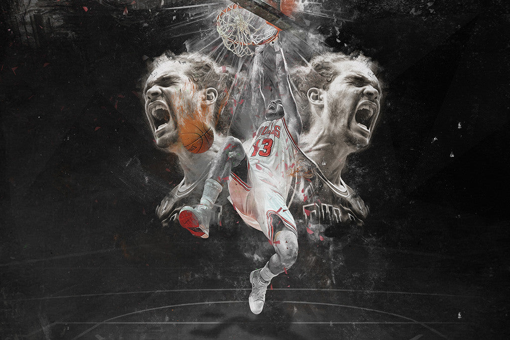 Joakim Noah Chicago Bulls Basketball NBA Poster