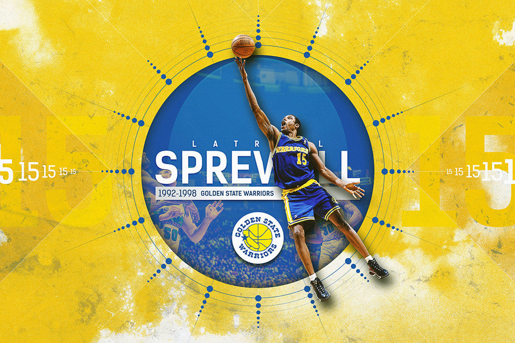 Latrell Sprewell Golden State Warriors Basketball NBA Poster