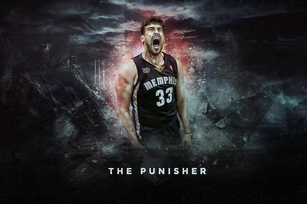 Marc Gasol Memphis Grizzlies Basketball NBA Poster